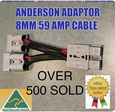 AU19.36 • Buy  Anderson Style Plug 50 Amp Connector Double Y Adaptor 8mm Twin Auto Cable