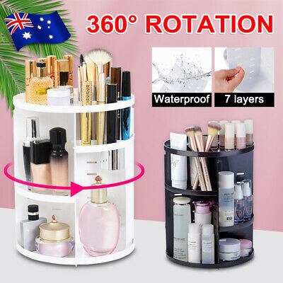 AU16.19 • Buy Makeup Organizer Box 360° Degree Rotating Cosmetic Storage Spinning Rack Case AU
