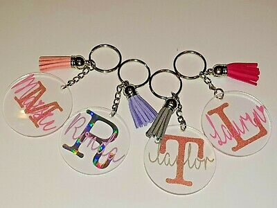 £3.99 • Buy Personalised Key Chain Named Key Ring Custom Made FREE DELIVERY!!