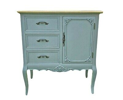 £295 • Buy French Louis Xv Shabby Chic Style Side Cabinet 3 Drawer (cy18816gyn)