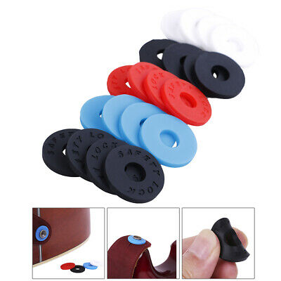 AU13.32 • Buy 4pcs Silicone Fender Strap Lock System Easy Install For Guitar Bass Ukulele .f