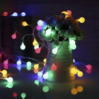 Mains Plug In 10M 100LED Globe Bulb Fairy String Lights Christmas Outdoor Party • 10.85£