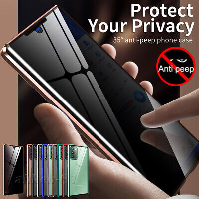 Phone Anti-peep 360° Magnetic Case For Samsung Galaxy Note 20 Ultra,Note 20 5G • 7.99£
