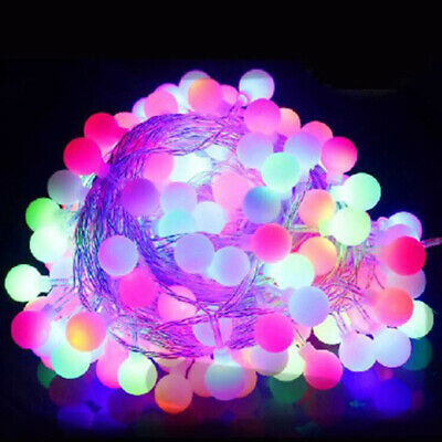 Electric Plug-in 100LED Ball Xmas Bulb Fairy String Lights Outdoor Multicolor UK • 11.59£