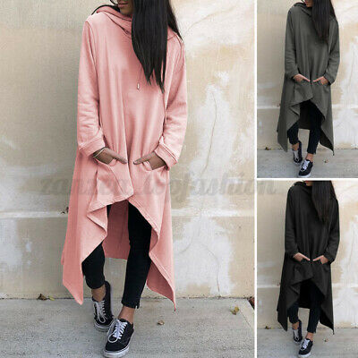 $ CDN23.33 • Buy Women Long Sleeve Hoodie Sweatshirt Dress Pullover Jumper Dress Kaftan Plus Size