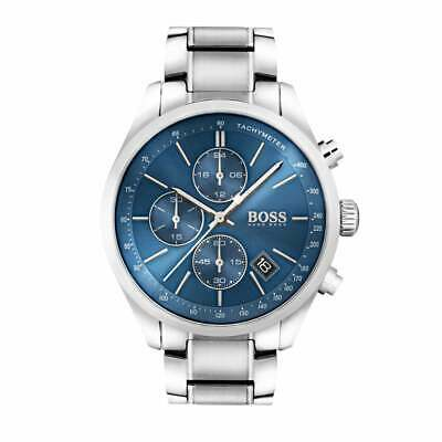 Hugo Boss Men's Grand Prix Blue Dial Stainless Steel Watch - HB1513478 • 105£