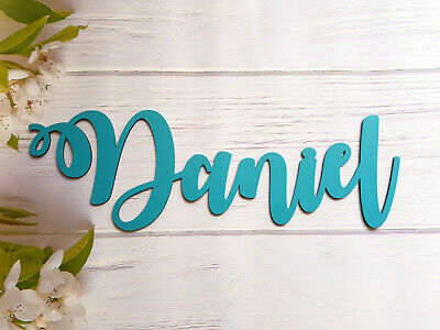 Wooden Name Sign Wall Plaque Personalised Gift Door Home Room Decor Hand Painted • 5.99£
