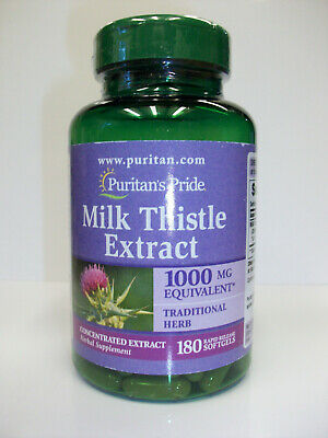 $11.74 • Buy Milk Thistle Seed Extract  1000 Mg  180 Softgels