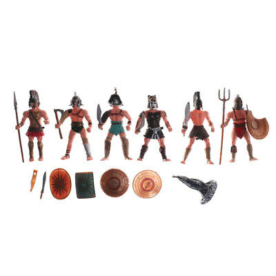 6X Plastic Ancient Roman Gladiator Warriors Military Action Figure Models Toy DO • 10.65£
