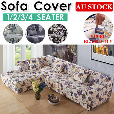 AU23.99 • Buy Sofa Covers 1/2/3/4 Seater Stretch Lounge Slipcover Protector Couch Washable AU