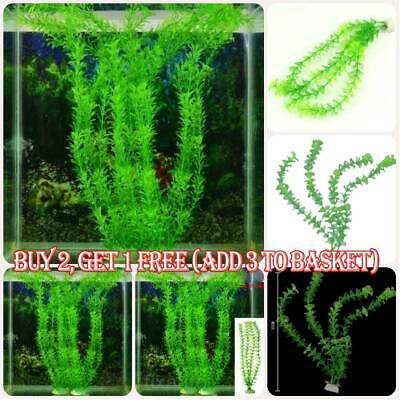 Artificial Aquatic Plants Large Aquarium Plant Plastic Fish Tank Home Decor • 3.99£