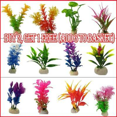 Artificial Aquatic Plants Small Aquarium Plant Plastic Fish Tank Decoration • 2.99£
