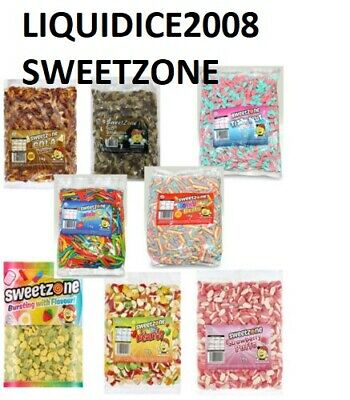 SWEET ZONE PICK N MIX Up To 1KG BAG HALAL SWEETS DISCOUNT CANDY PARTY FAVOURS • 0.99£
