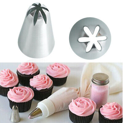 1/3pcs Icing Piping Nozzle Tool Set Pastry Cake Cupcake Cream Rose Nozzles • 2.99£