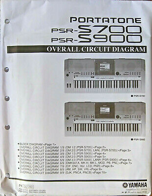 AU56.62 • Buy Yamaha PSR-S700 PSR-S900 Keyboard Original Overall Circuit Diagram / Schematics