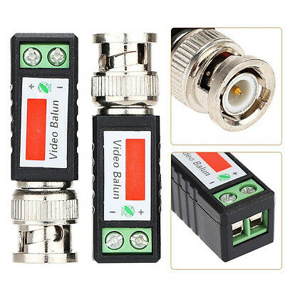 AU9.46 • Buy 1x Coax CAT5 CCTV Camera Passive BNC Video Balun To UTP Connector Transceive.f