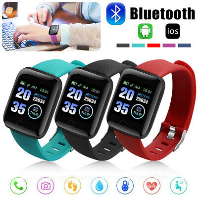 AU14.99 • Buy Bluetooth Smart Watch Waterproof Heart Rate Fitness Bracelet For IPhone Samsung