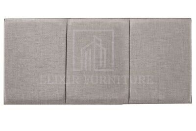 Headboard  Turin Fabric 20   OSLO  Upholstered Bed - All Sizes & Colours • 29.99£
