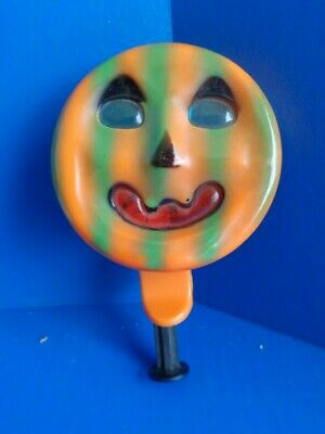 $ CDN47.36 • Buy Vintage Halloween Plastic Noisemaker- Friction  Spinner- Jol Face- Unusual