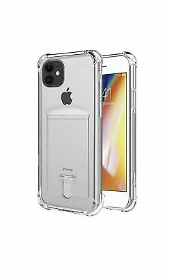 AU8.37 • Buy IPhone Xr X Xs 11 Case Cover With Credit Card Holder Shockproof Thin Clear Case