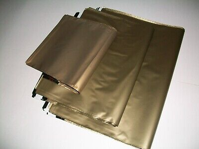 50 GOLD Mixed Sizes Mailing Poly Postal Bags Packaging Postage Mailers Envelopes • 5.79£
