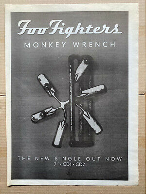 FOO FIGHTERS MONKEY WRENCH POSTER SIZED Original Music Press Advert From 1997 -  • 11£