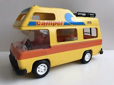 PLAYMOBIL CAMPER VAN 3148 (1986) USED RARE RETRO VINTAGE COLLECTABLE 80's 90's • 18£