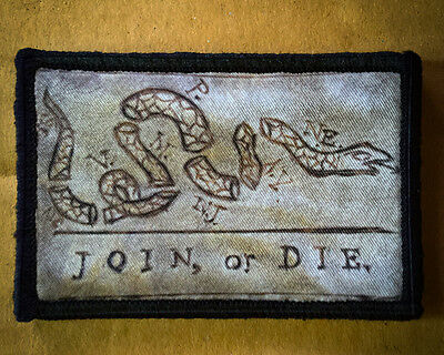 $7.99 • Buy Join Or Die Morale Patch Tactical Military USA Hook Badge Army Flag