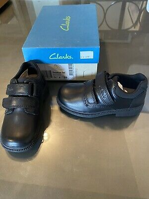 Boys Clarks Deaton Inf Black Leather School Shoes Size UK 7.5F • 17.99£
