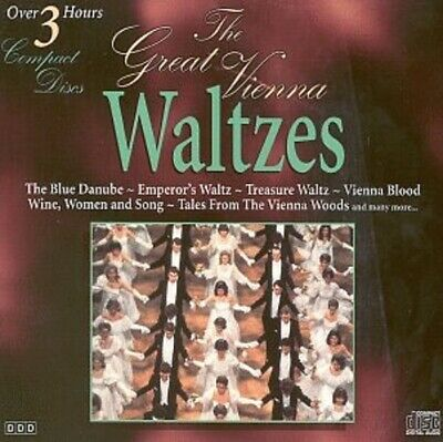 The Great Vienna Waltzes Blue Danube Love Songs Coronation Spring Voices Etc NEW • 3£