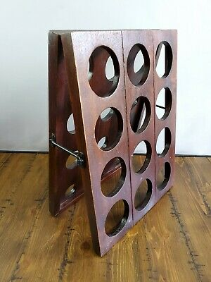 Wine Champagne Riddling Rack Collapsible Wood Latch- Small 24 Bottles • 84.67£