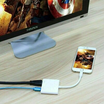 Lightning To Digital AV TV HDMI Cable Adapter 1080P For IPad Air IPhone 6 7 8 11 • 7.69£