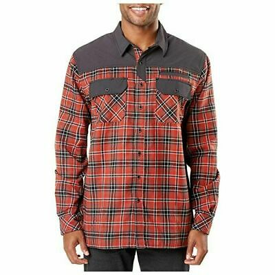 $7.99 • Buy NEW 5.11 Tactical Endeavor Red Plaid Mens Medium Long Sleeve Flannel Shirt Rt$80