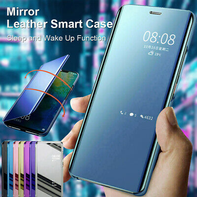 $ CDN6.58 • Buy Mirror Smart View Leather Flip Case Cover For Samsung Galaxy S20+ Ultra S10 S9 S