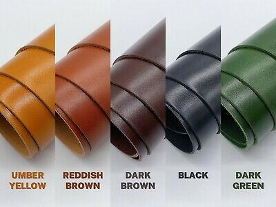 Dyed Veg Tan Leather Cowhide Craft 1.8-2mm Thick 5 Colour • 12£