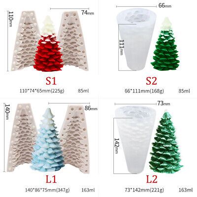 3D Christmas Tree Candle Soap Making Mold Silicone Cake Chocolate Baking Mould • 6.85£