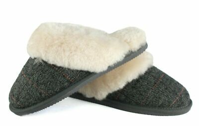 Ladies Genuine Sheepskin Slippers Mules Hard Sole Non Slip • 25£