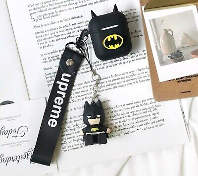 AU9.99 • Buy Shockpfoof AirPods Case Protective Silicone Cover Batman Keychain Anti Lost