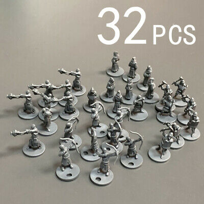 AU25.49 • Buy Lot 32 Heroes For Dungeons & Dragons Role Playing Miniatures Board Game Figures