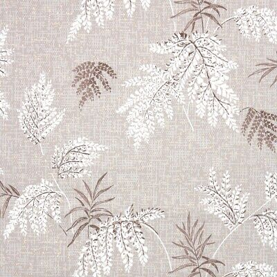 £32.60 • Buy 1950s Botanical Vintage Wallpaper Brown And White Leaves Metallic Gold Accent