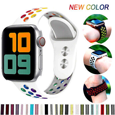 AU9.34 • Buy Replacement Silicone Sport Band 38mm 42mm For IWatch Apple Watch Series 5 4 3
