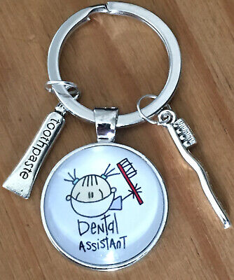 """Dental Assistant"" Keyring Keychain Bag Charm Gift • 2.99£"