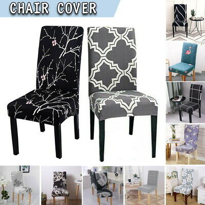AU28.05 • Buy 1/6/8x Stretch Spandex Chair Covers Removable Slipcover Seat Cover Dining Party