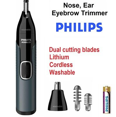 AU38.95 • Buy PHILIPS Lithium Nose Ear Hair Shaver Grooming Kit Washable Cordless Premium NEW
