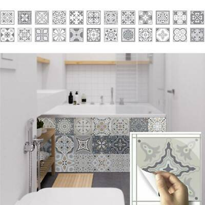 24pcs Moroccan Style Mosaic Wall Stickers Tile Kitchen Bathroom Self-Adhesive • 10.89£