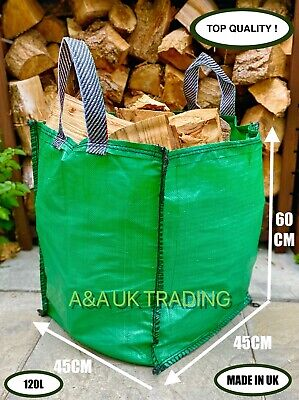 £7.49 • Buy Garden Waste Bag 120L Refuse Heavy Duty Strong Sack Grass Leaves Logs Firewood