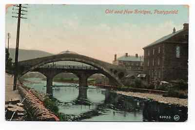PONTYPRIDD - Old & New Bridges - GLAMORGAN - Valentine - POSTCARD • 2.49£