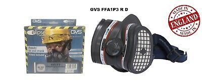 GVS Elipse Half Mask,SPR503 Complete With A1P3 Filters, Medium/Large, Made In UK • 34.95£