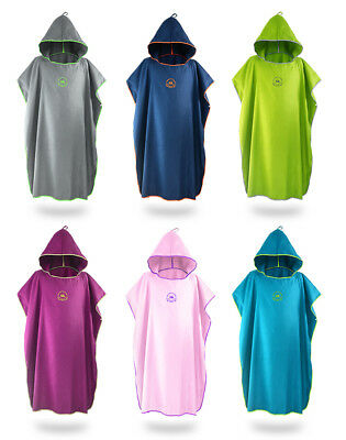 Beach Bath Microfiber Surf Hooded Poncho Robe With Hood Wetsuit Changing Towel • 15.99£