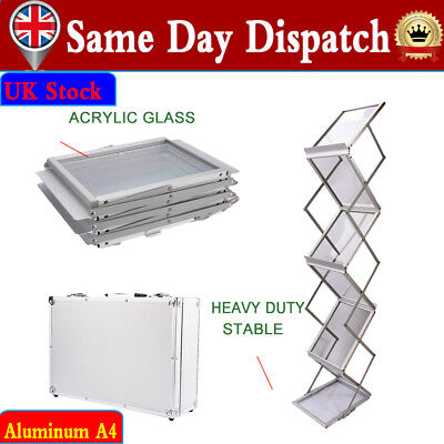 Scalable A4 Exhibition Stand Brochure Rack Display Stand Holder With AluminumBox • 51.39£